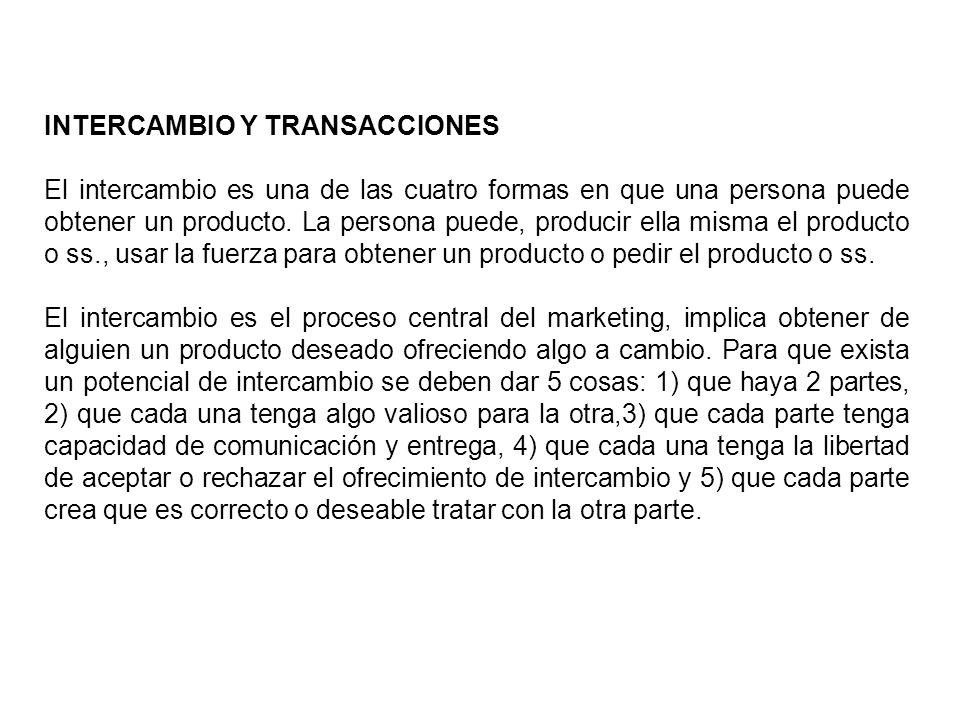 INTERCAMBIO Y TRANSACCIONES