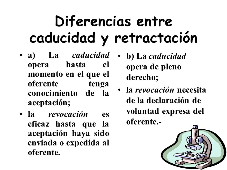 Diferencias entre caducidad y retractación