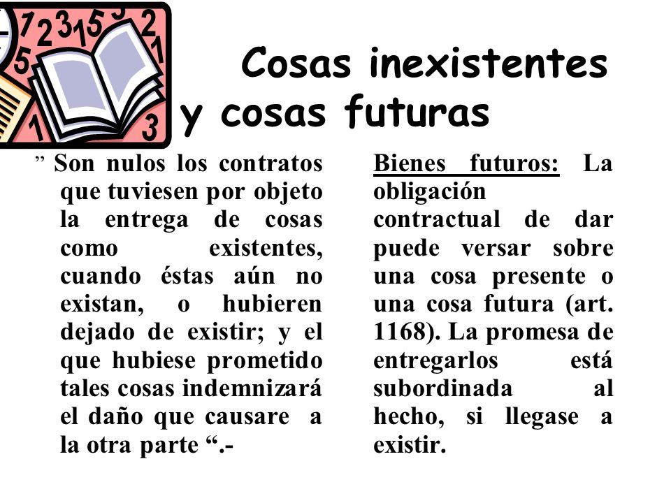 Cosas inexistentes y cosas futuras