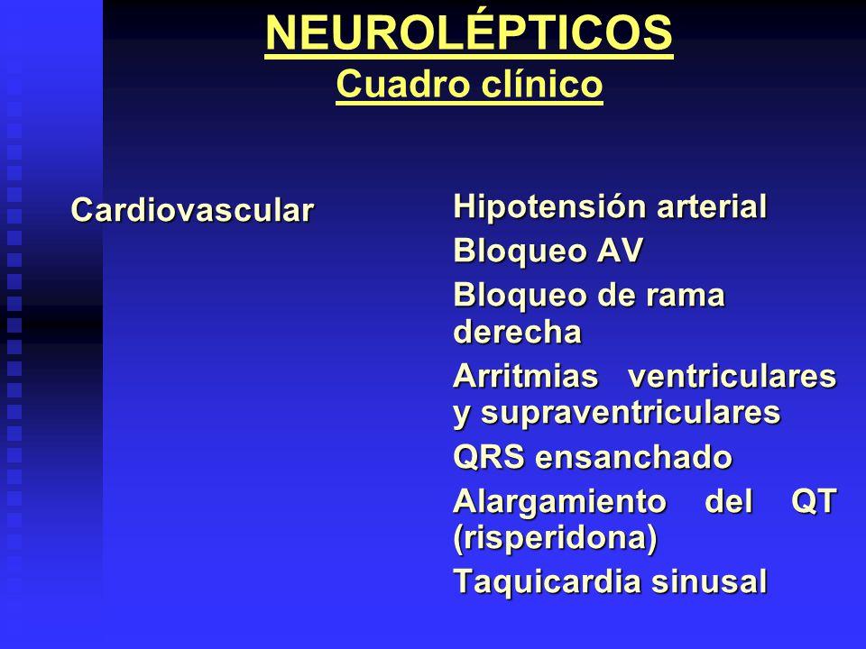 NEUROLÉPTICOS Cuadro clínico