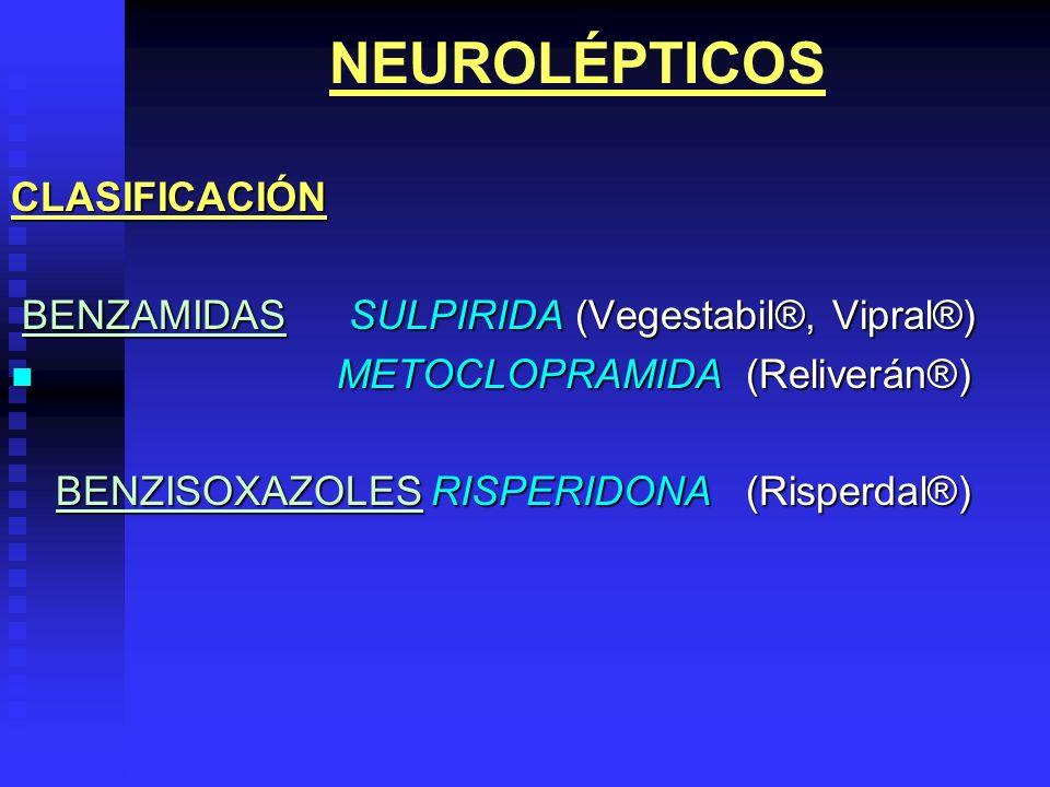 NEUROLÉPTICOS CLASIFICACIÓN