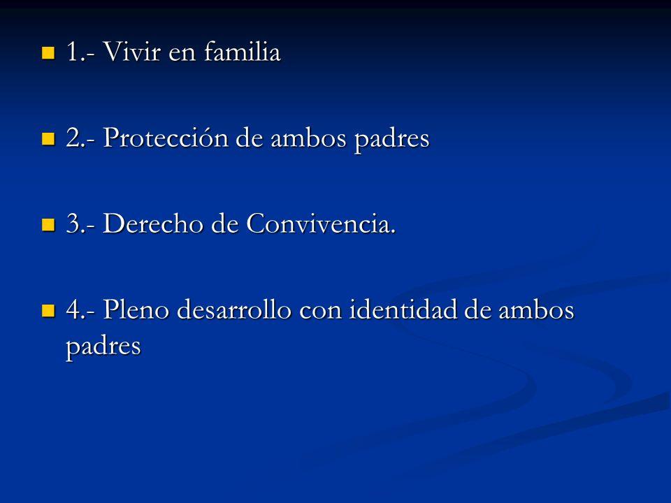 1.- Vivir en familia 2.- Protección de ambos padres.