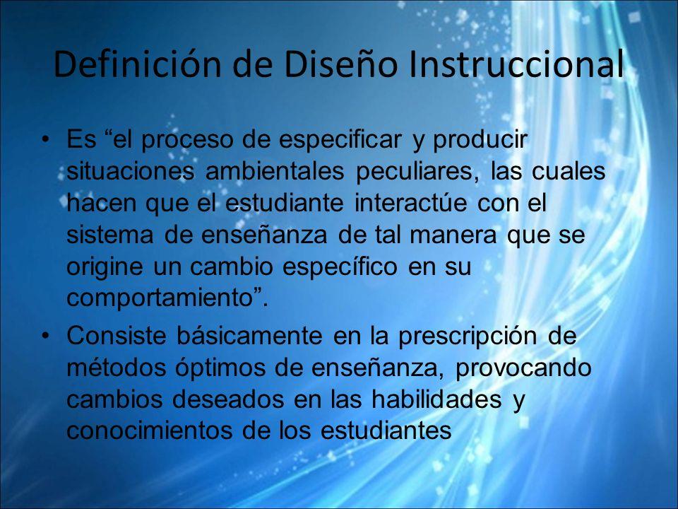 Definición de Diseño Instruccional