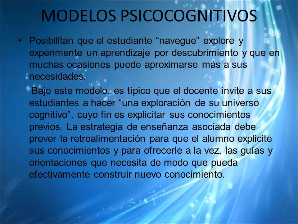 MODELOS PSICOCOGNITIVOS