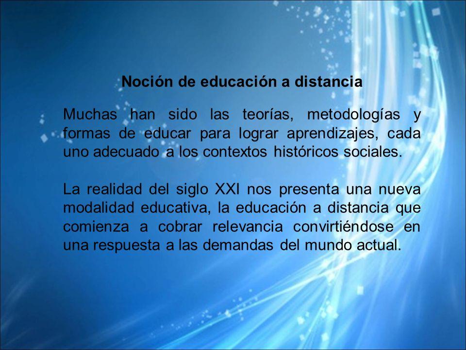 Noción de educación a distancia