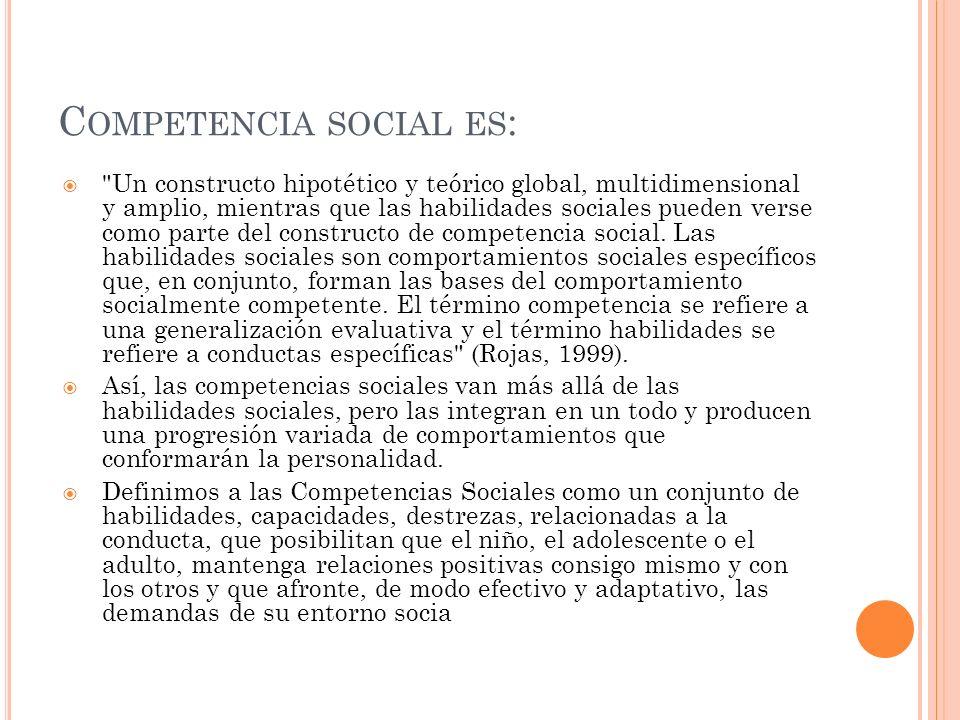 Competencia social es: