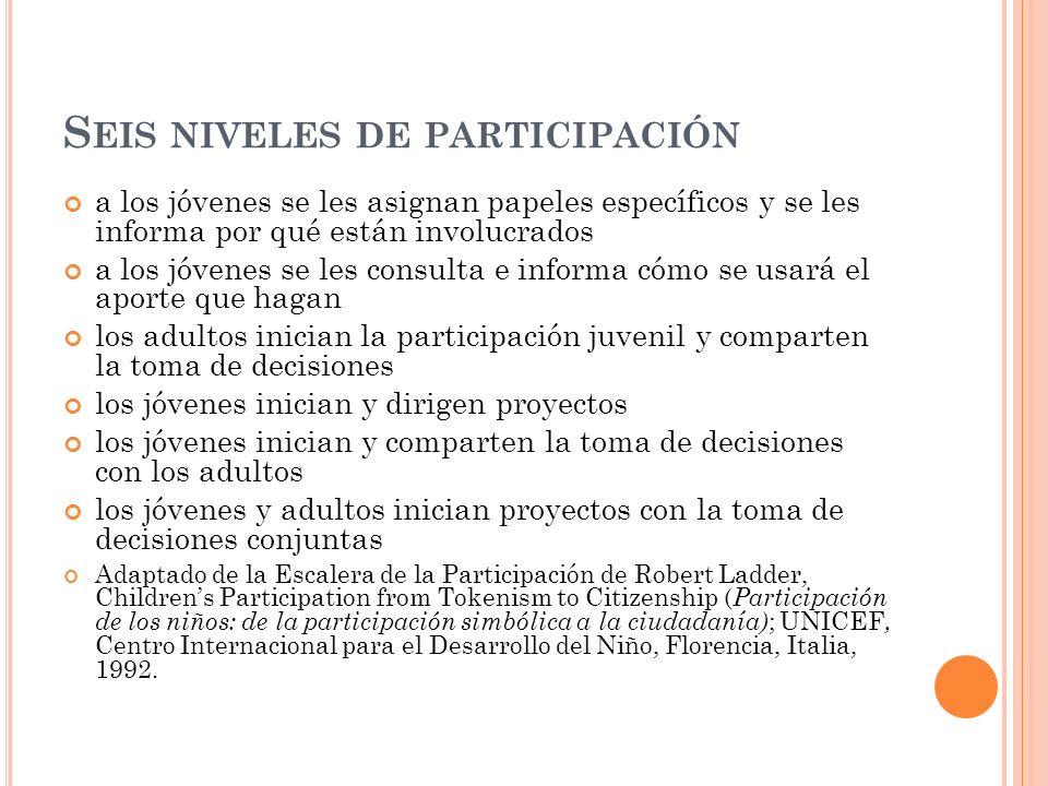 Seis niveles de participación