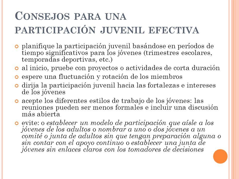 Consejos para una participación juvenil efectiva