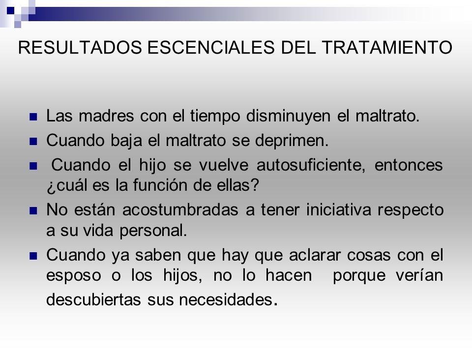 RESULTADOS ESCENCIALES DEL TRATAMIENTO