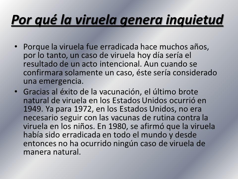 Por qué la viruela genera inquietud