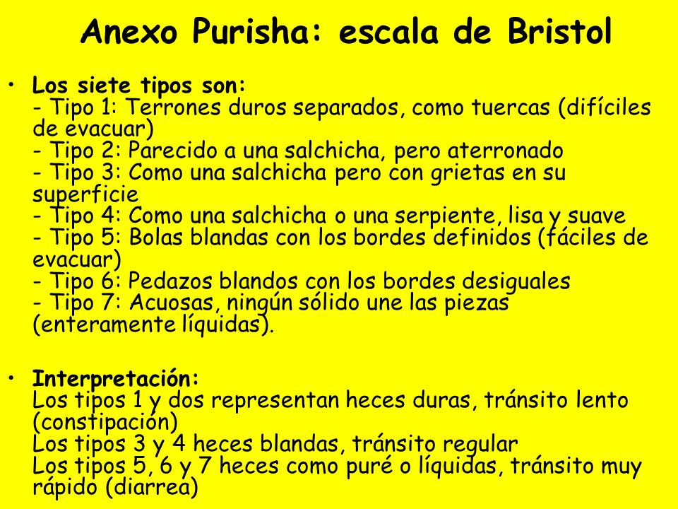 Anexo Purisha: escala de Bristol