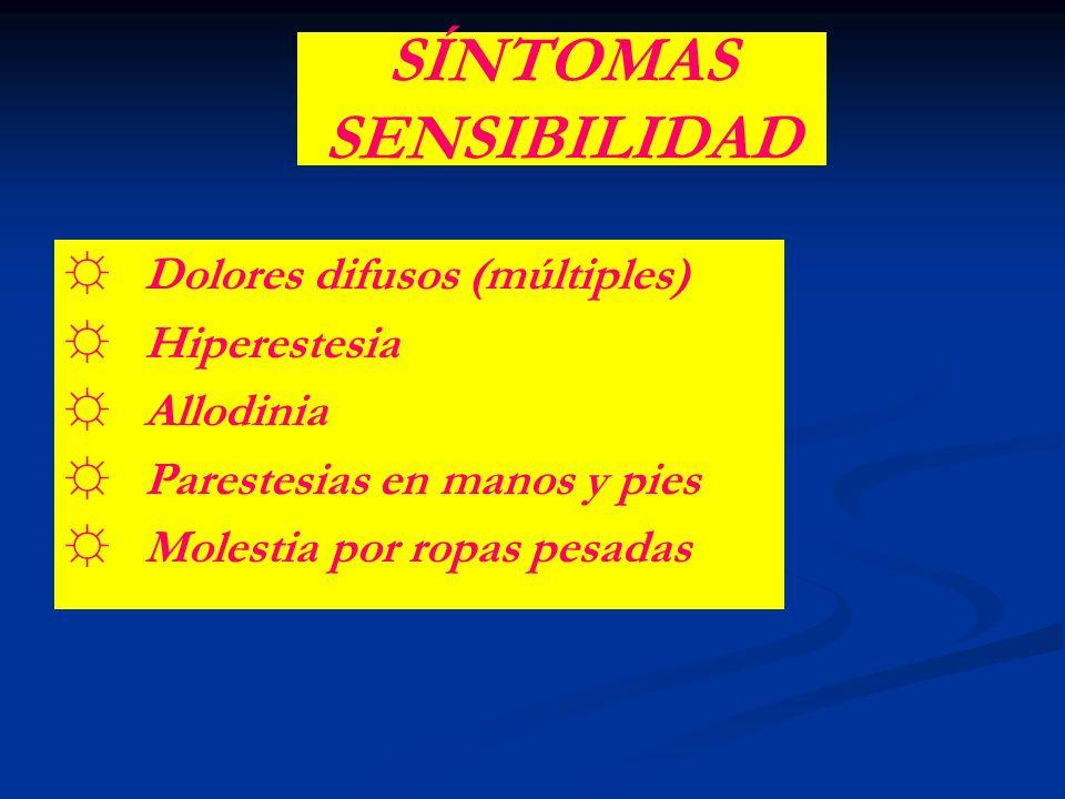 SÍNTOMAS SENSIBILIDAD