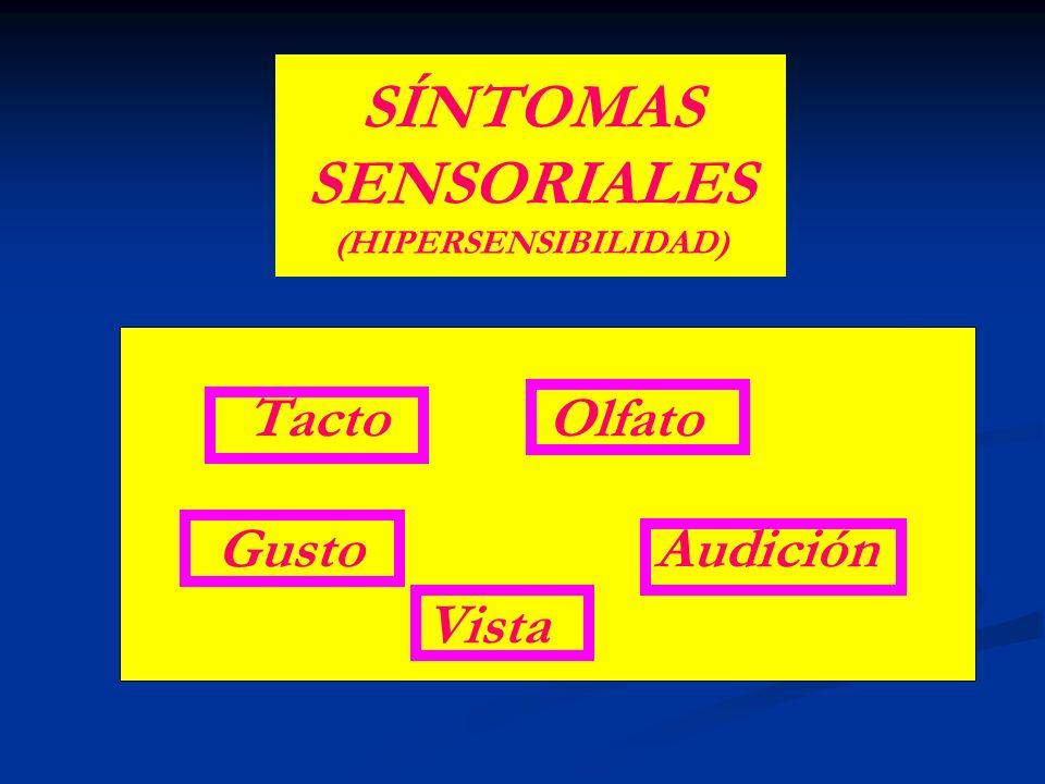 SÍNTOMAS SENSORIALES (HIPERSENSIBILIDAD)