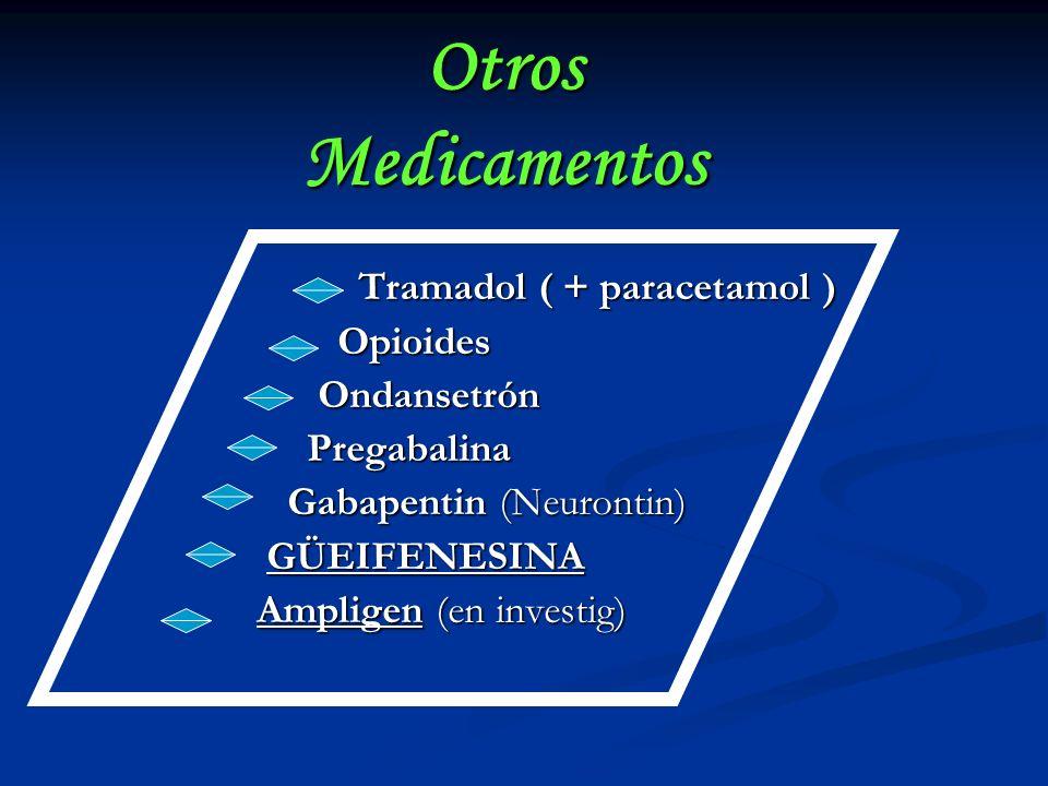 Otros Medicamentos Tramadol ( + paracetamol ) Opioides Ondansetrón