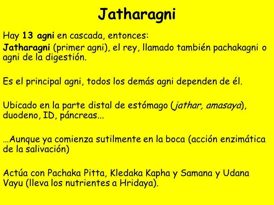 Jatharagni Hay 13 agni en cascada, entonces: