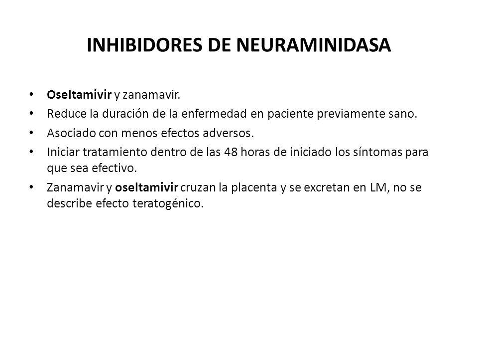 INHIBIDORES DE NEURAMINIDASA