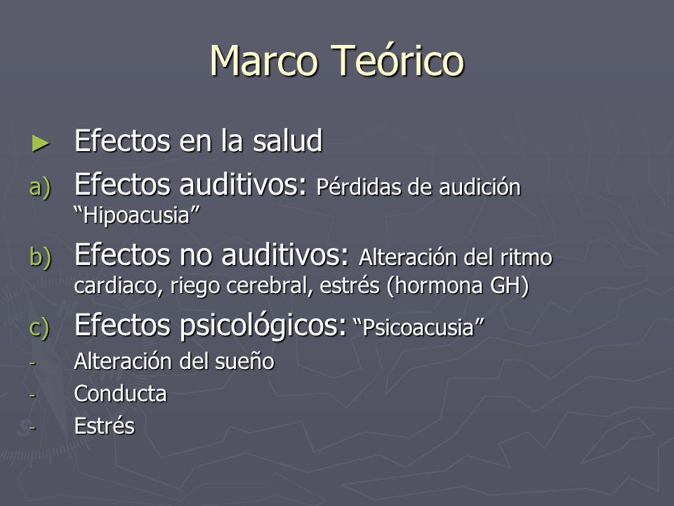 Marco Teórico Efectos en la salud