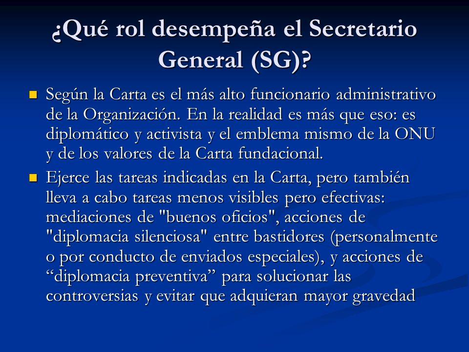 ¿Qué rol desempeña el Secretario General (SG)