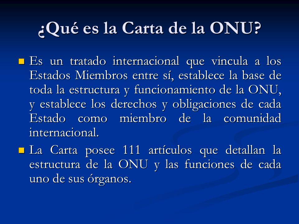 ¿Qué es la Carta de la ONU