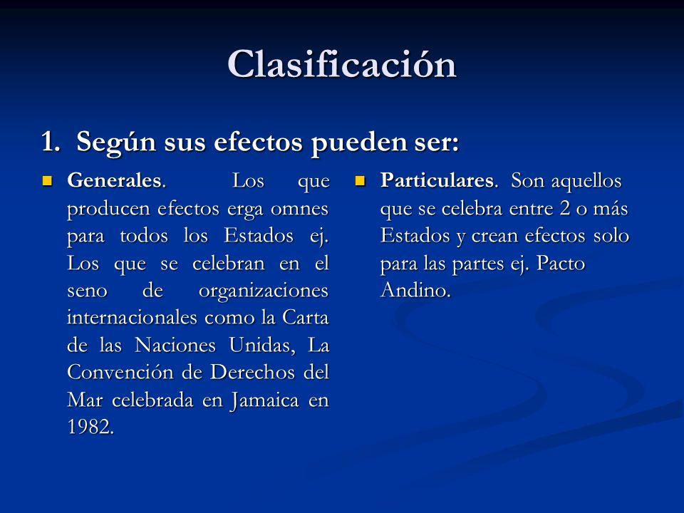 Clasificación 1. Según sus efectos pueden ser: