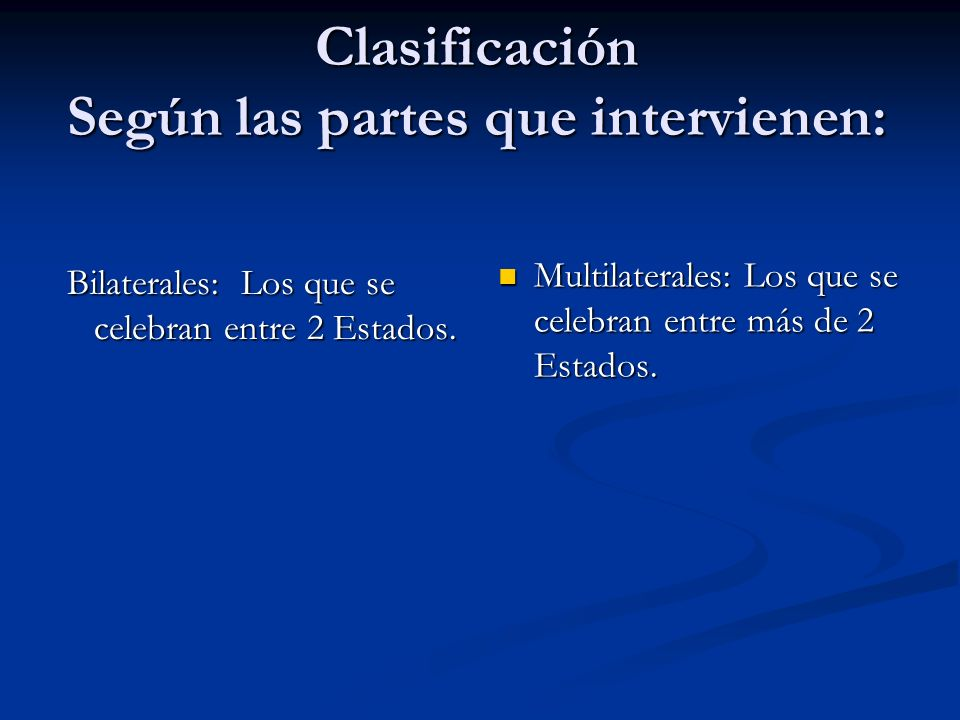 Clasificación Según las partes que intervienen: