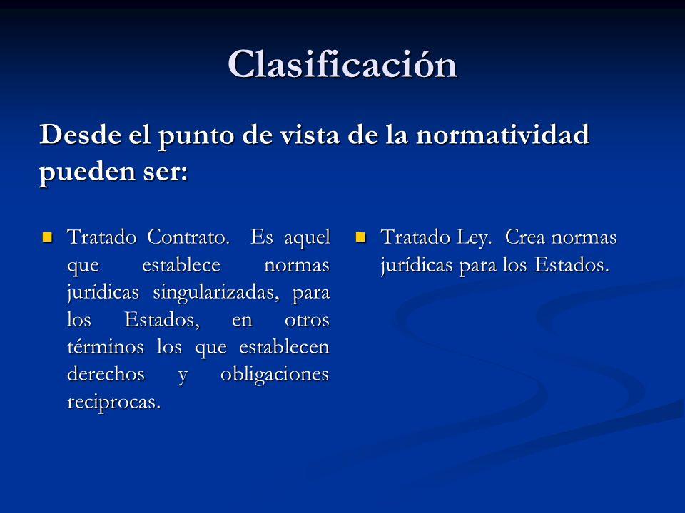 Clasificación Desde el punto de vista de la normatividad pueden ser: