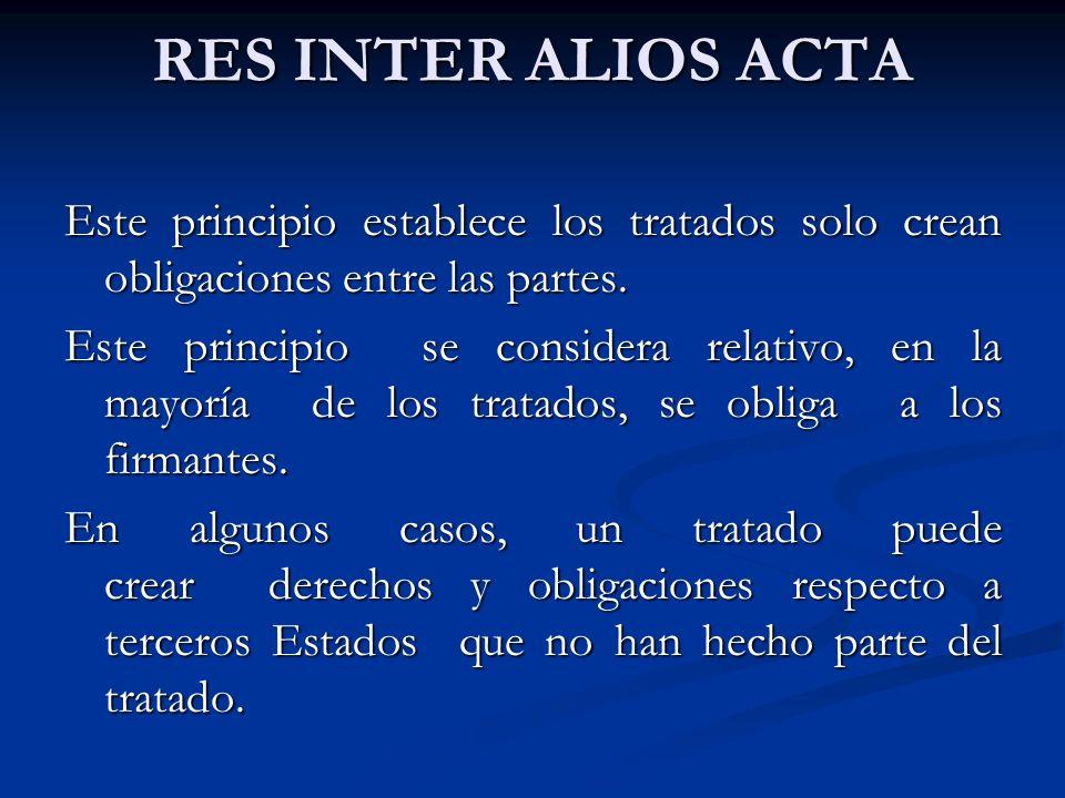 RES INTER ALIOS ACTA