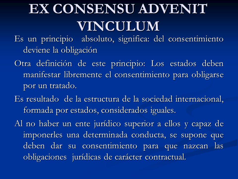 EX CONSENSU ADVENIT VINCULUM