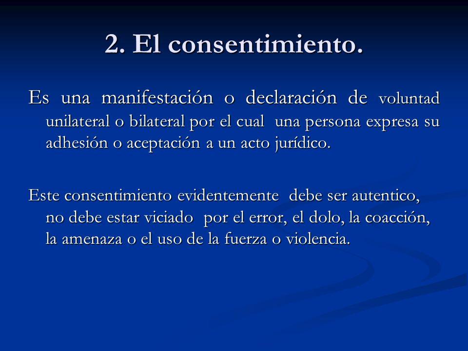 2. El consentimiento.