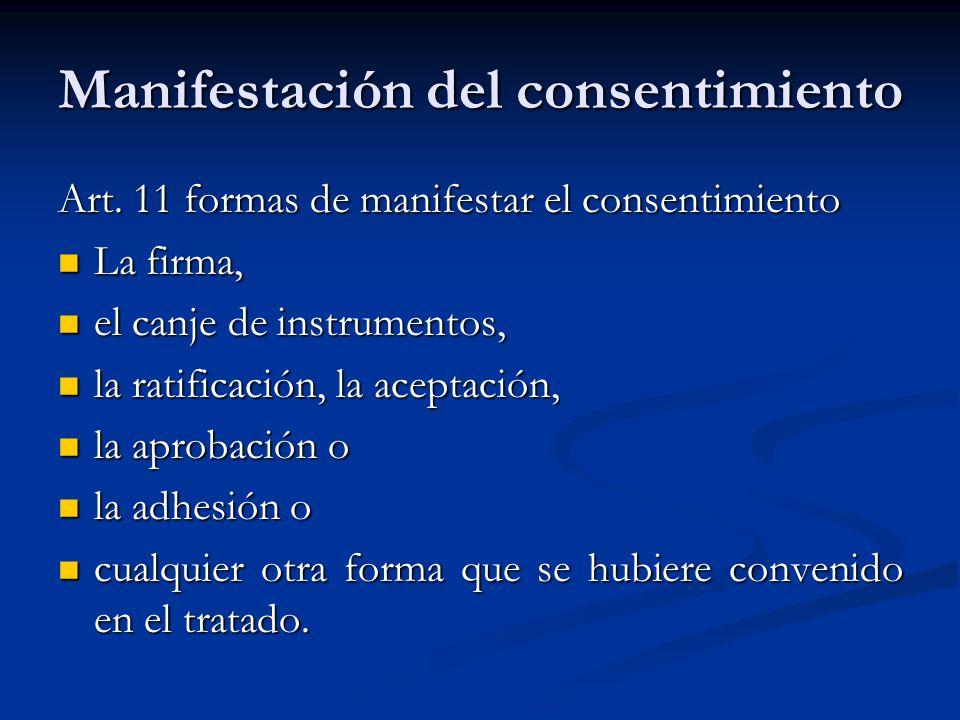 Manifestación del consentimiento