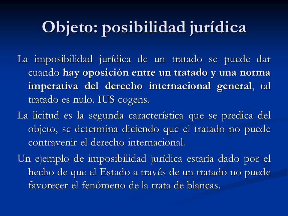 Objeto: posibilidad jurídica