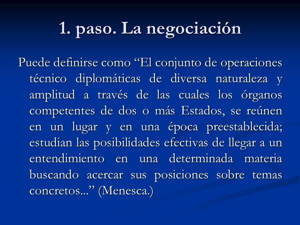 1. paso. La negociación