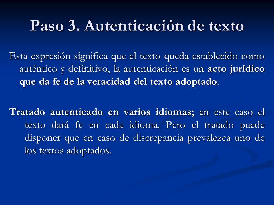 Paso 3. Autenticación de texto