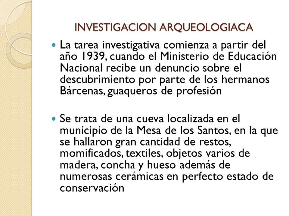 INVESTIGACION ARQUEOLOGIACA