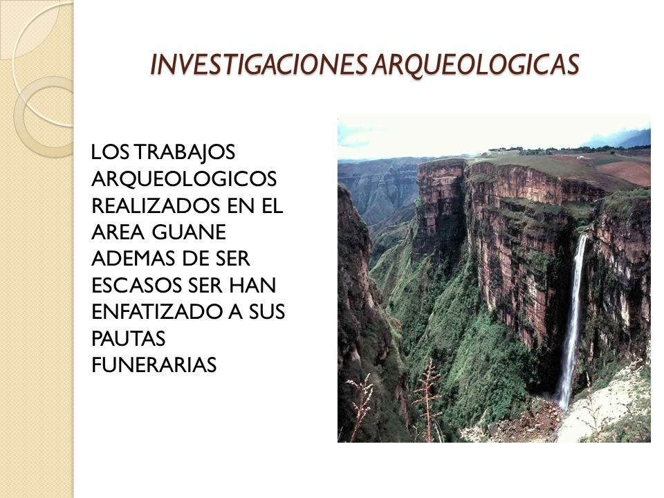 INVESTIGACIONES ARQUEOLOGICAS