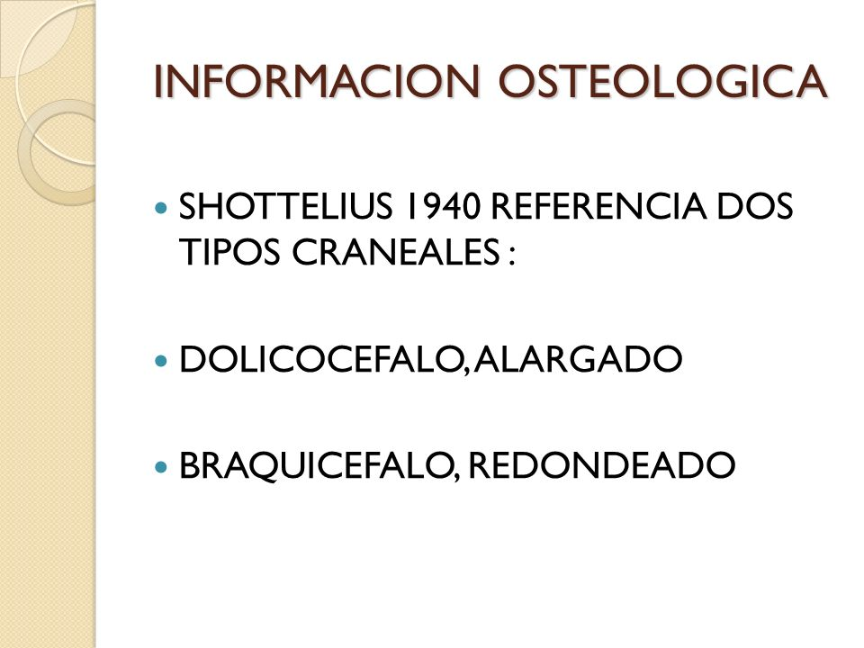 INFORMACION OSTEOLOGICA