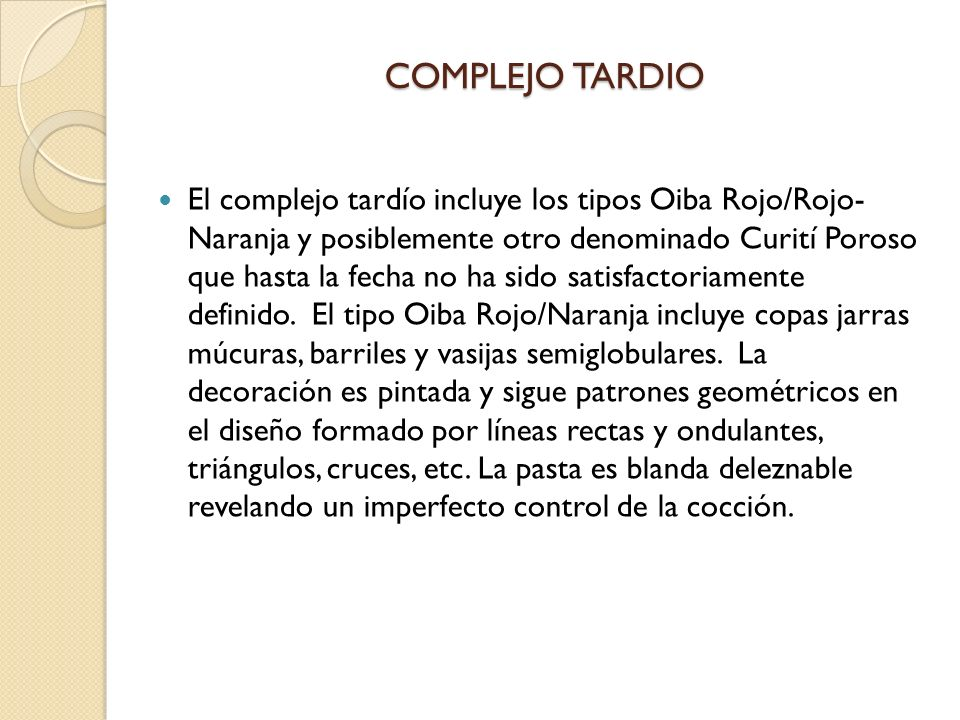 COMPLEJO TARDIO