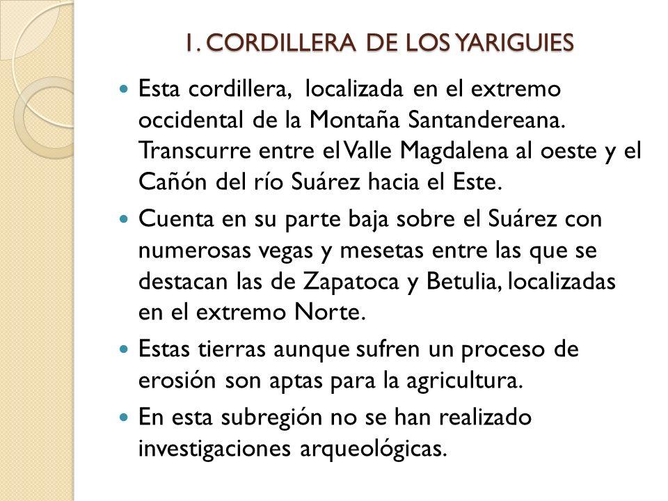 1. CORDILLERA DE LOS YARIGUIES