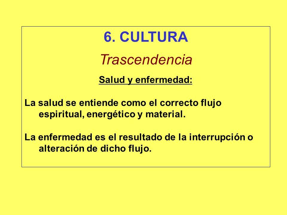 6. CULTURA Trascendencia Salud y enfermedad: