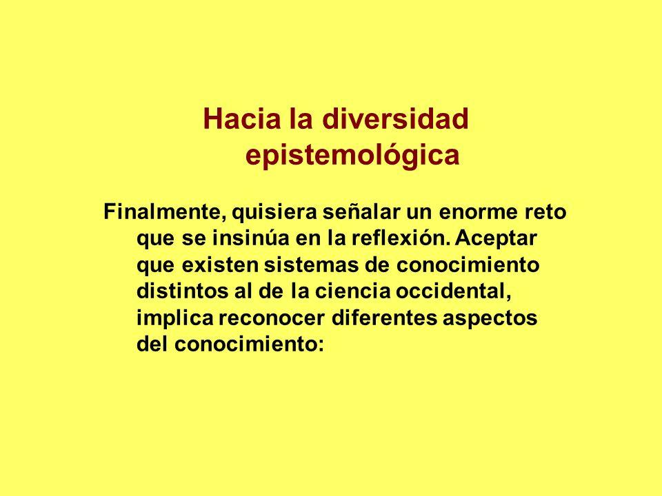 Hacia la diversidad epistemológica