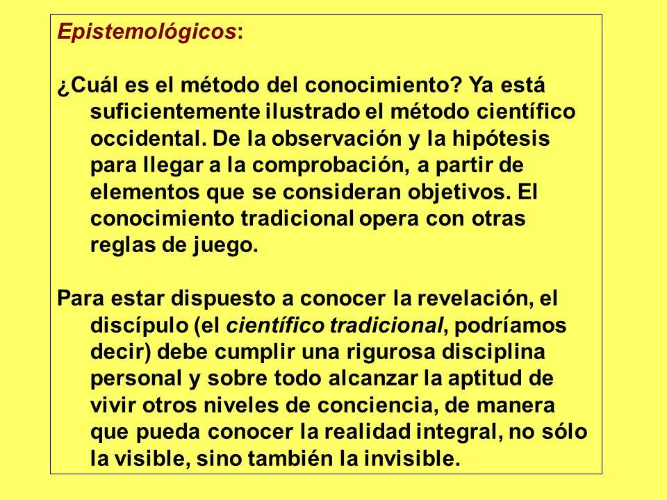 Epistemológicos: