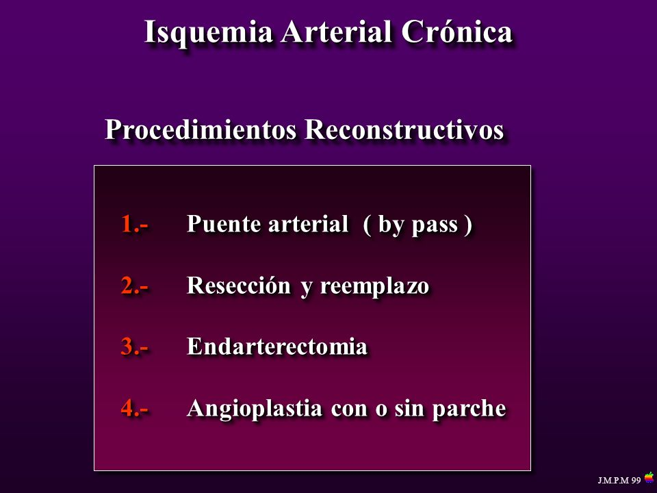 Isquemia Arterial Crónica