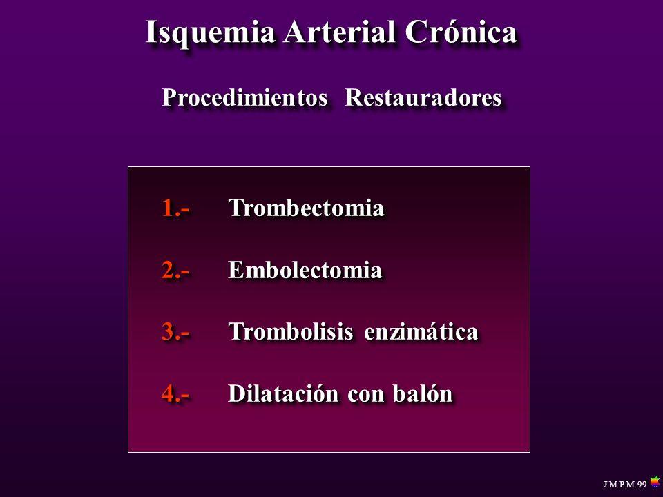 Isquemia Arterial Crónica Procedimientos Restauradores