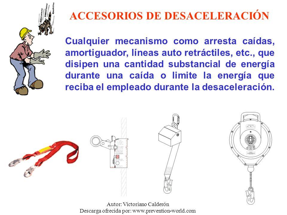 ACCESORIOS DE DESACELERACIÓN