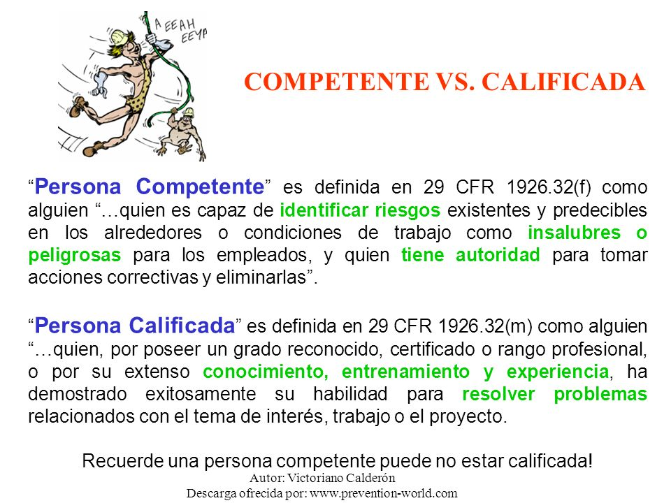 COMPETENTE VS. CALIFICADA