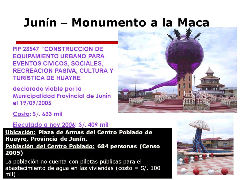 Junín – Monumento a la Maca