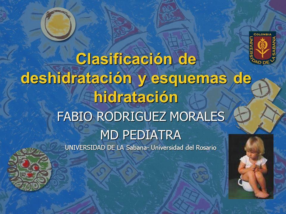 Clasificación de deshidratación y esquemas de hidratación