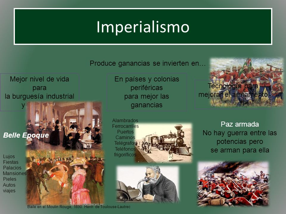 Imperialismo Produce ganancias se invierten en…