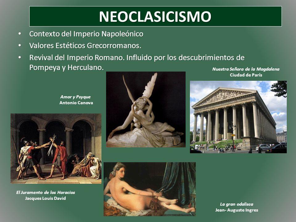 NEOCLASICISMO Contexto del Imperio Napoleónico