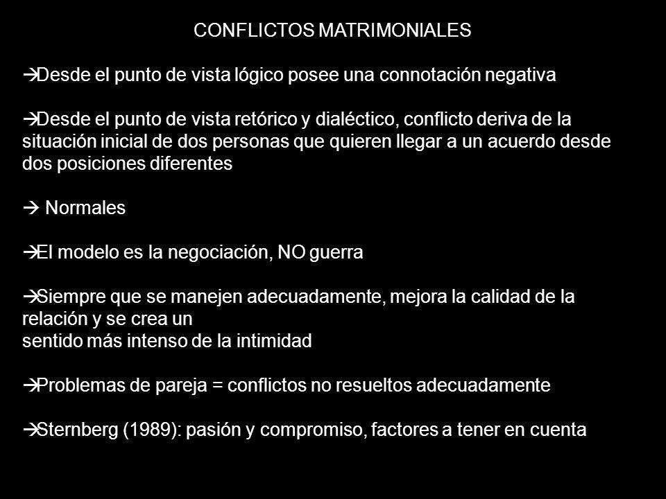 CONFLICTOS MATRIMONIALES